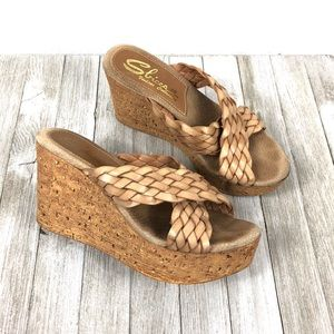 Sbicca Shoes Vintage Collection wedge, Size 8